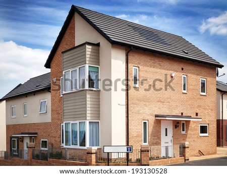 New English Residential Estate - stock photo