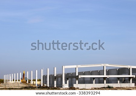 new factory construction site industry zone - stock photo