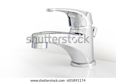 New faucet in bathroom