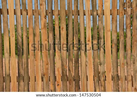 New fence on new property development,