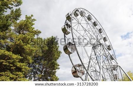 New Ferris wheel in Pervouralsk, Urals, Russia - stock photo