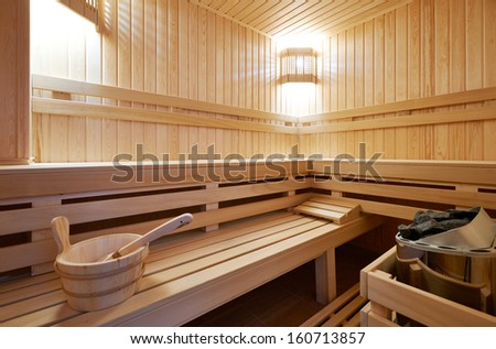 New Finland-style classic wooden sauna