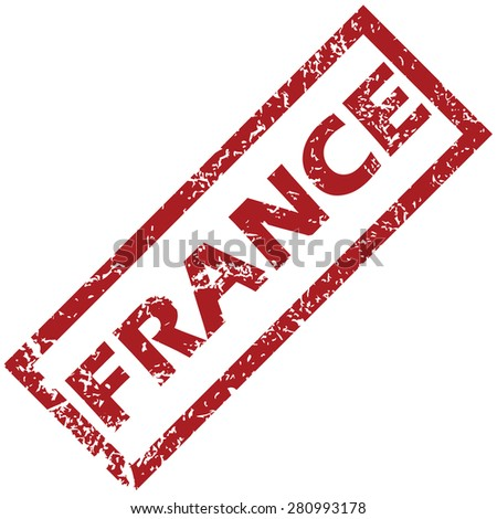 New France grunge rubber stamp on a white background
