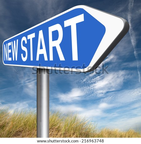 new fresh start or chance back to the beginning and do it again   - stock photo