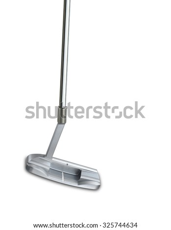 New golf club on white isolated background - stock photo