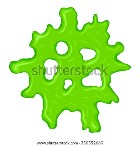 New green slime sign isolated on a white background - stock photo