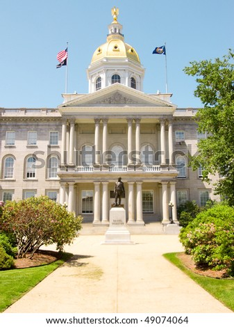 New Hampshire State capital building - stock photo