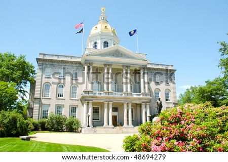 New Hampshire State House capitol building - stock photo