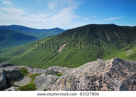 New Hampshire White Mountains National Forest - stock photo