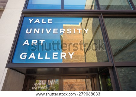 New Haven - April 4: Yale University Art Gallery on April 4, 2015. Yale University Art Gallery is the oldest university art museum in the western hemisphere