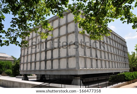 NEW HAVEN, CONNECTICUT:  The Beinecke Rare Book and Manuscript Library at Yale University - stock photo