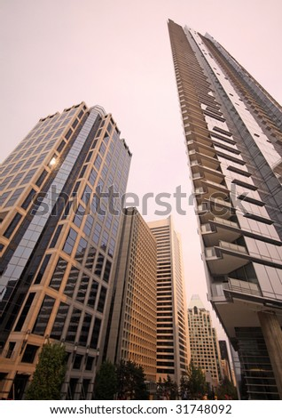 New high rise hotel and office tower - stock photo