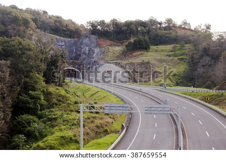 New highway from Xalapa to Perote,Mexico