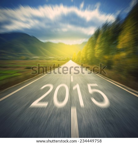New highways, in 2015, a better future. - stock photo