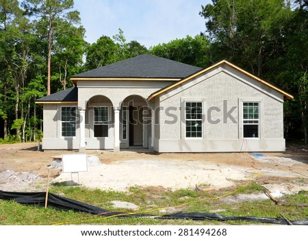 New home construction Florida, USA - stock photo