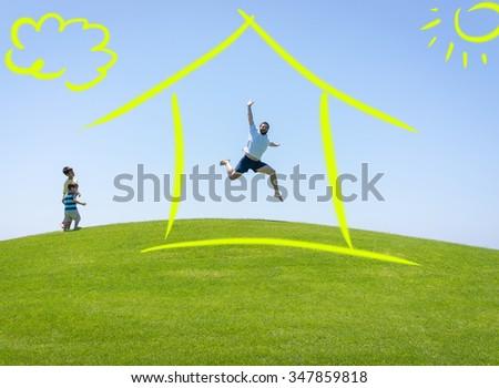 New home dream - stock photo
