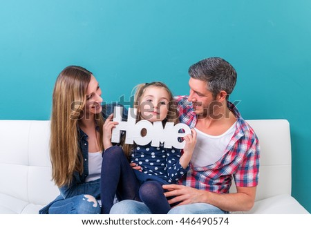 new home family - stock photo