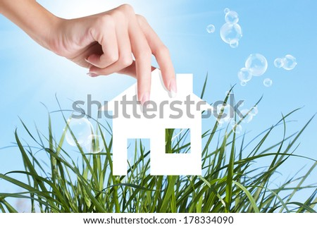 New Home for Family.Gift.Happiness Concept - stock photo