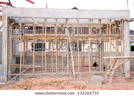 New Home Under Construction - stock photo