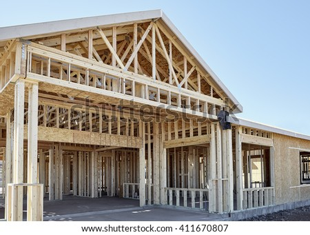 New home wood engineer frame construction industry