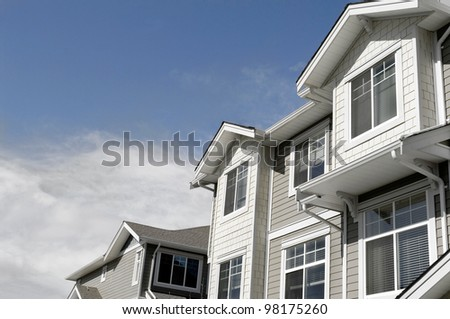 new house for sale. modern townhouse condo home for real estate property investment. - stock photo