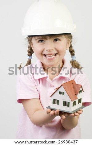 New house model - stock photo