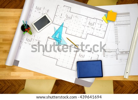 New House project - stock photo