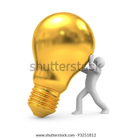 New Idea. Image contain clipping path - stock photo