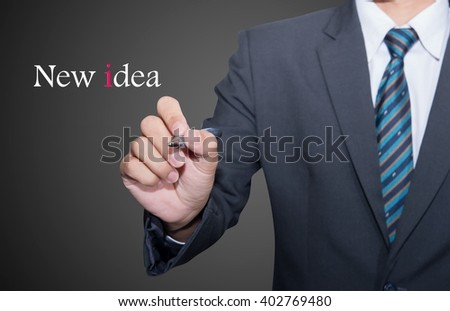New idea speech for business concept background.  - stock photo