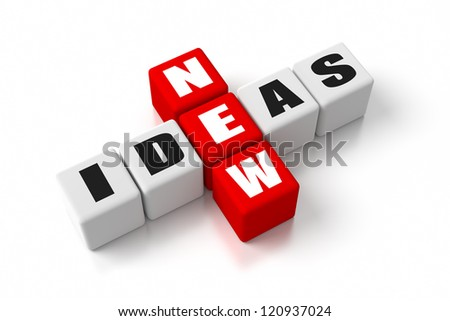New Ideas crosswords. Part of a business concepts series. - stock photo
