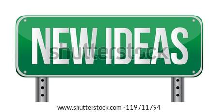 new ideas illustration design over a white background - stock photo
