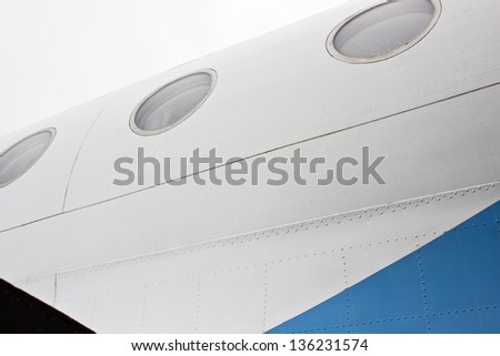 new image of civic airplane windows can use like travel symbol - stock photo