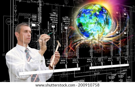 New Industrial Technology - stock photo