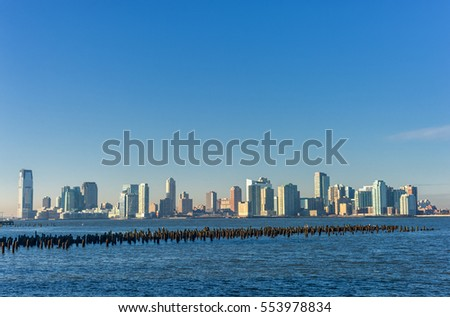New Jersey Across the Hudson River. View from New York Side.