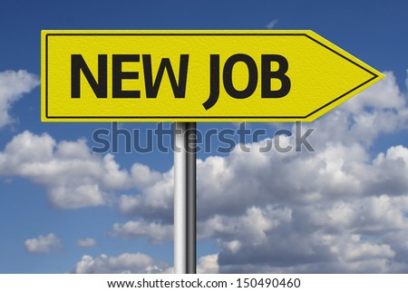 New Job creative sign - stock photo