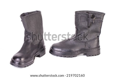 New kersey boots isolated on a white background