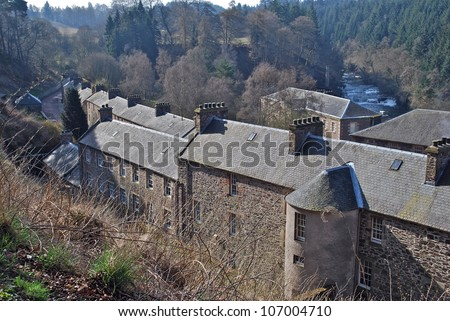 New Lanark, Scotland - stock photo