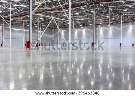 New Large modern empty warehouse