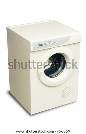 new laundry tumble dryer with clipping path to remove shadow or add another background.
