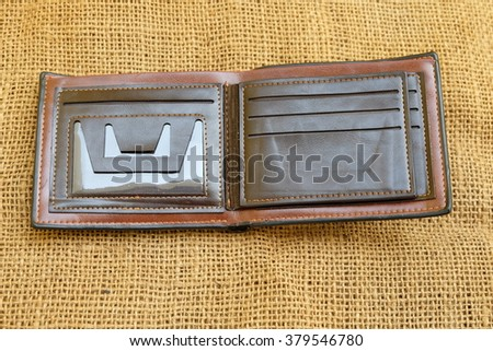 New leather wallet isolated on background