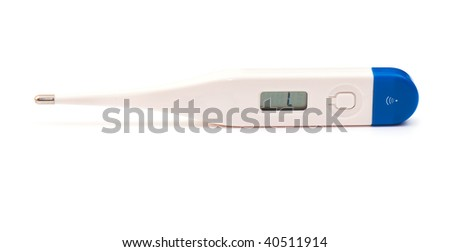 new medical thermometer on the white isolated background