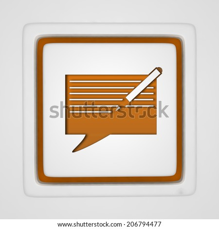 new message square icon on white background