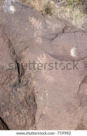 New Mexico Petroglyph carved in a rock perhaps 2000-3000 years old