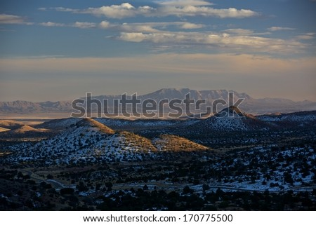 New Mexico Sunset - stock photo