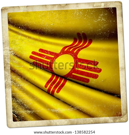 New Mexico (USA) grunge sticker - stock photo