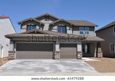 New Modern Home - stock photo