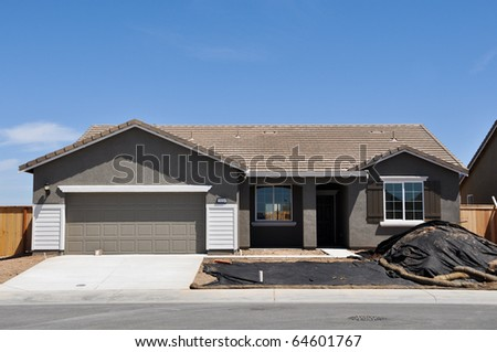 New Modern Home Under Construction - stock photo