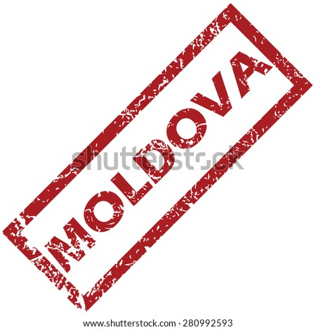 New Moldova grunge rubber stamp on a white background