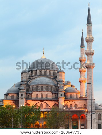 New Mosque (Yeni Camii) is one of the most noticeable attractions of Istanbul. Turkey