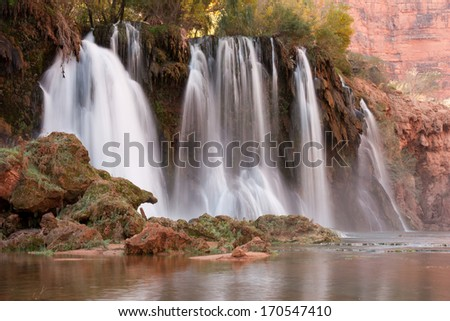New Navajo Falls, Grand Canyon, Arizona - stock photo